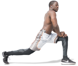 man working out lunges
